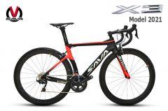 Xe đạp đua Carbon SAVA X3 model 2021-Ultegra R8000