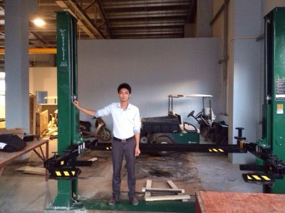 Cung cấp các thiết bị nâng hạ hãng Golf lift- Mỹ bảo dưỡng thiết bị máy sân Golf  cho tập đoàn FLC