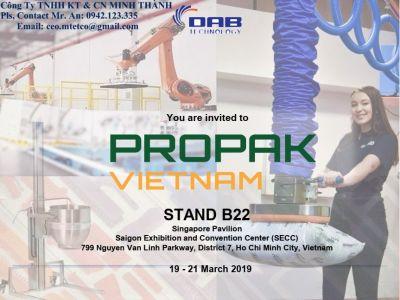 Công ty TNHH KT & CN MINH THÀNH tham gia triển lãm PROPAK VIETNAM 2019