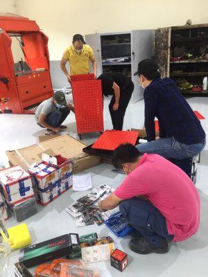 Bàn giao vật tư, thiết bị phục vụ sửa chữa bảo dưỡng Sân Golf Thanh Lanh
