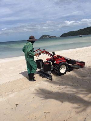 Minh Thành bàn giao 03 máy sàng cát làm sạch bãi biển bãi Khem- Sungroup