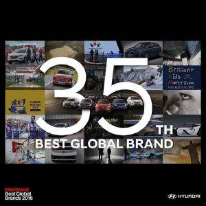 Hyundai xếp hạng thương hiệu lớn thứ 35 trên thế giới