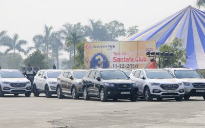 """Hơn 50 xe Hyundai SantaFe offline chào mừng sinh nhật 3 năm """"SantaFe Club"""""""
