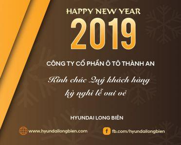Thông báo LỊCH NGHỈ TẾT DƯƠNG LỊCH 2019  - Hyundai Long Biên