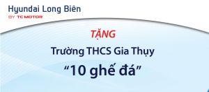 Hyundai Long Biên tặng trường THCS Gia Thụy 10 chiếc ghế đá nhân Lễ khai giảng năm học mới