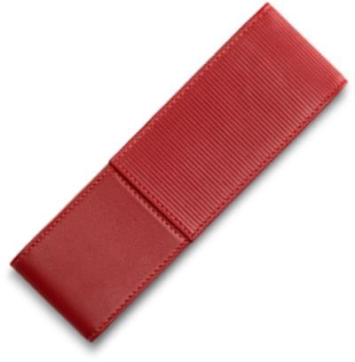 Bao da dành cho bút Lamy A315 màu đỏ, loại 2 cây