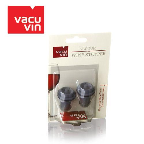 Bộ 2 nút chai Silicon màu xám thương hiệu Vacu Vin 8840612