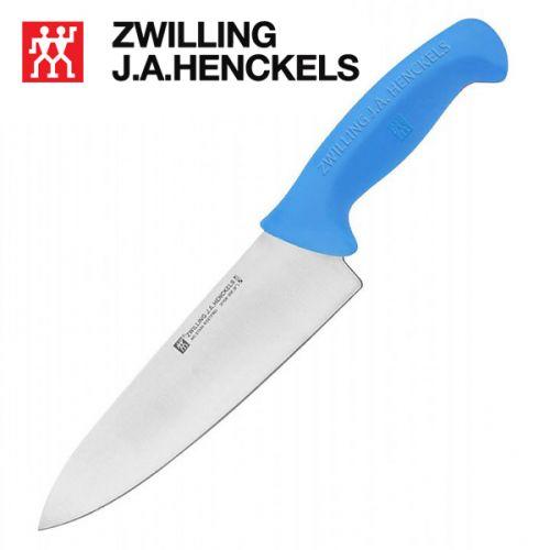 Dao đầu bếp thương hiệu Zwilling 32108-254, lưỡi dao dài 24cm cán màu xanh dương