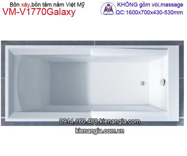 Bồn tắm nằm xây Galaxy Việt Mỹ  VM-V1770Galaxy