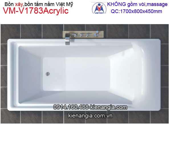 Bồn tắm nằm xây Acrylic Việt Mỹ VM-V1783Acrylic