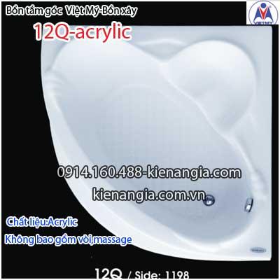 Bồn tắm góc xây acrylic Việt Mỹ 1,2 mét VM12QAcrylic