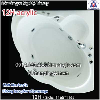 Bồn tắm góc xây acrylic Việt Mỹ 1,2 mét VM12HAcrylic