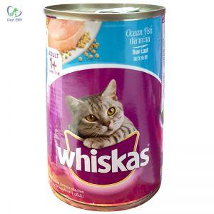 Thức Ăn Cho Mèo Cá Biển Pate Whiskas Hộp (400g)