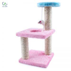 Đồ chơi trụ cào móng 2 tầng cho mèo (Màu ngẫu nhiên)