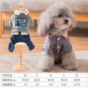 Quần áo cho chó mèo TĐ Jumpsuit - L