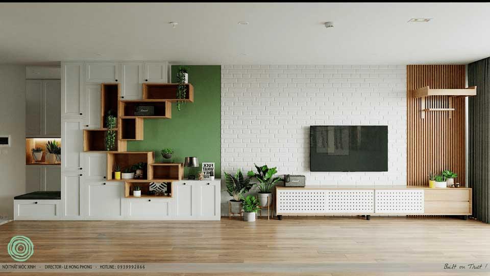 15 mẫu tủ giày dép tạo điểm nhấn ấn tượng cho phòng khách