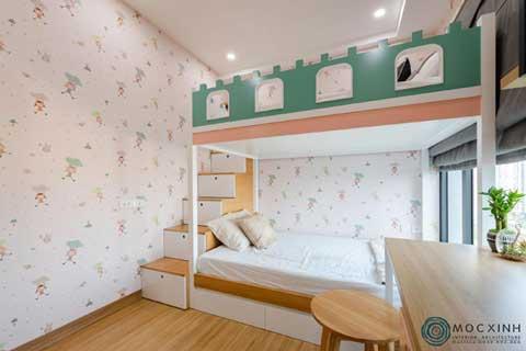 Mẫu nội thất phòng ngủ trẻ em nhà chị Hường Westbay