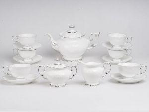 Bộ trà 1.3L - Đài Các - Chỉ Bạch Kim