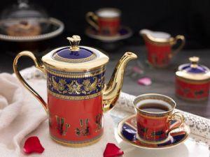 Bộ trà 0.8L - Tulip Trắng - Trống Đồng