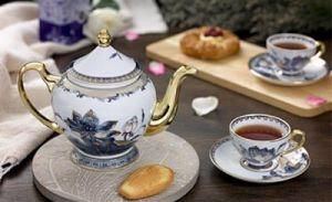 Bộ trà 1.3L - Hoàng cung - Sen Ngọc