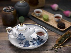 Bộ trà 0.3L - Hoàng Cung - Sen Vàng