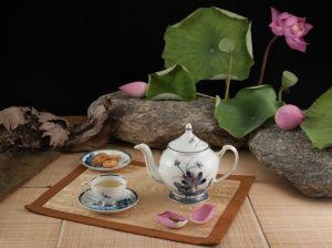 Bộ trà 0.8L - Hoàng cung - Sen Vàng