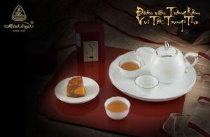 Bộ trà 0.3L - Mẫu Đơn IFP - Chỉ Bạch Kim
