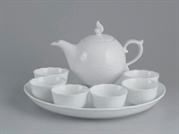 Bộ trà 0.3L - Sen - Trắng