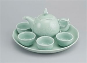 Bộ trà 0.3L - Sen - Xanh