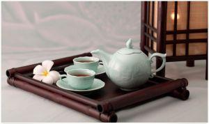 Bộ trà 0.7L - Sen - Xanh