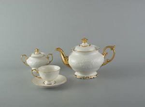 Bộ trà 1.3L - Đài Các - Chỉ Vàng