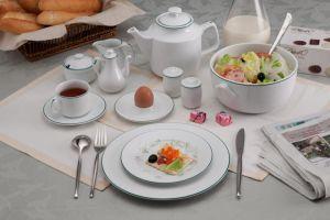 Bộ đồ ăn 10 người 35 sản phẩm - Jasmine - Chỉ Xanh Lá