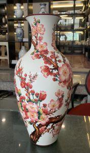 Bình hoa 40cm - Hoa Đào Đỏ