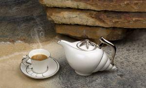 Bộ trà 1.2L - Ngọc Biển - Chỉ Bạch Kim