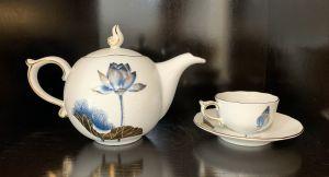 Bộ trà 0.7L - Tịnh Tâm Vàng