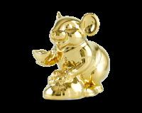 Chuột Phú 8 cm - Trang trí dát vàng 24K