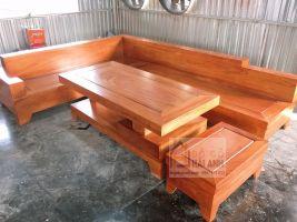 Sofa gỗ gõ đỏ SFG01