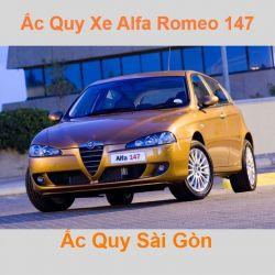 Bình ắc quy xe ô tô Alfa Romeo 147 (2000 - 2010)
