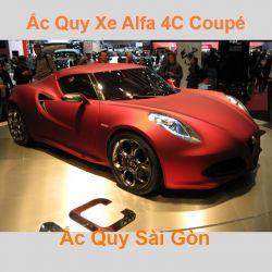 Bình ắc quy xe ô tô Alfa Romeo 4C Coupé / 4C Spider