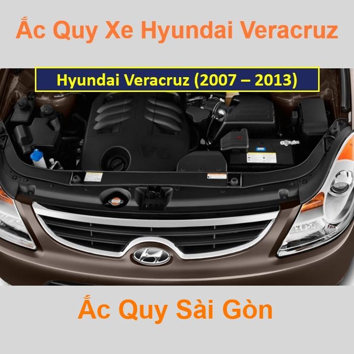 Nhà Phân Phối Ắc Quy Sài Gòn | Chuyên cung cấp và lắp đặt tận nơi nhanh chóng Bình ắc quy xe ô tô Hyundai Veracruz (2007 - 2013) chất lượng cao với gi