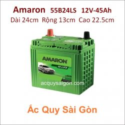 Ắc quy Amaron 12V 45Ah 55B24LS (NX100-S6LS)