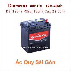 Ắc quy Daewoo 12V 40Ah 44B19L (NS40ZL)