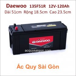 Ắc quy Daewoo 12V/120Ah 135F51R (N120)