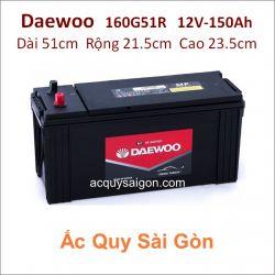 Ắc quy Daewoo 12V/150Ah 160G51R (N150)