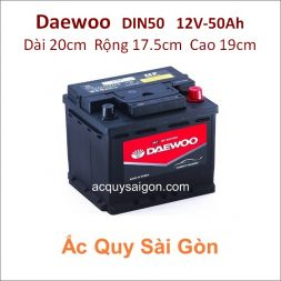 Ắc quy Daewoo 12V 50Ah Din50 (55054)
