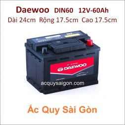 Ắc quy Daewoo 12V 60Ah Din60 (56009)