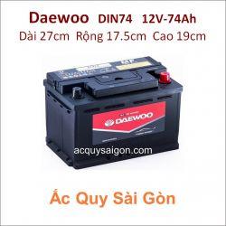 Ắc quy Daewoo 12V 74Ah Din74 (57412)