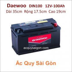Ắc quy Daewoo 12V-100Ah Din100 (60044)