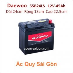 Ắc quy Daewoo 12V 45Ah 55B24LS (NX100-S6LS)