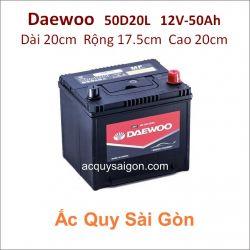 Ắc quy Daewoo 12V 50Ah 50D20L (26R-525)